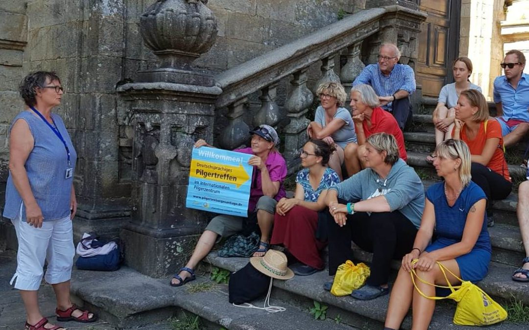 10 años de acogida a los peregrinos alemanes en Santiago