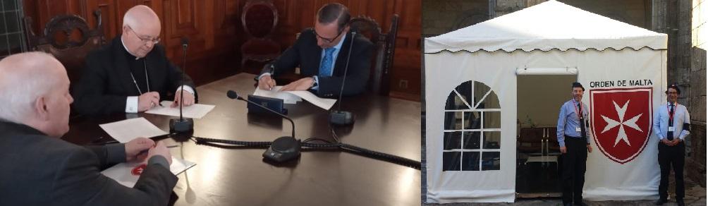 La Orden de Malta prestará atención sanitaria a peregrinos en Santiago